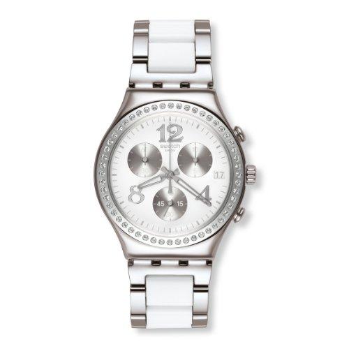 Swatch Swatch Touch Secret Thought White YCS552G - Orologio da polso da donna, cinturino in diversi materiali multicolore