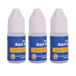 3 Pcs Professional 3g/Bottle Acrylic Nail Art Glue For French False Tips Rhinestones Manicure Tools