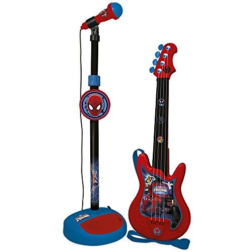 reig-spider-man-gitarre-und-standmikrofon