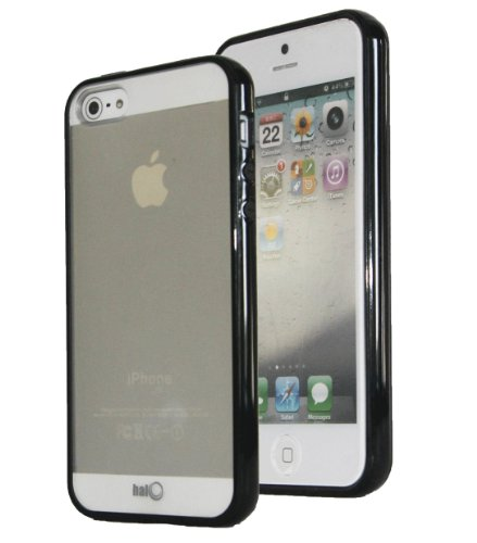 Halo © Premium Tpu Anti-Scratch Hybrid Bumper With Hardshell Backing Case For New Apple Iphone 5 (Black)