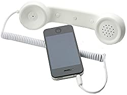 CheckSums (11855) COCO PHONE radiation free phone 3.5mm Wired Retro Handset Receiver- White (FREE OTG CABLE OF Rs.200)