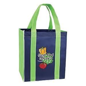 Amazon.com: 100 Logo Reusable Shopping Bags Mucho Grande ...