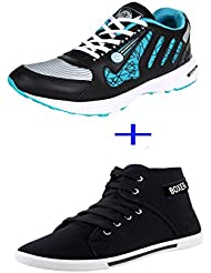 Earton COMBO Pack Of 2 Pair Of Casual Shoes With Sports Shoes