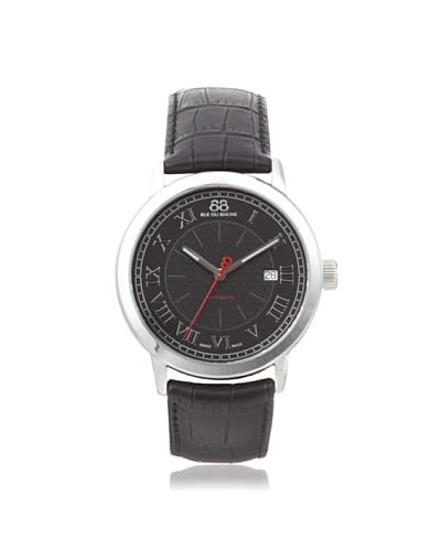 88 RUE DU RHONE Men's 87WA120043 Double 8 Origin Black Leather Watch