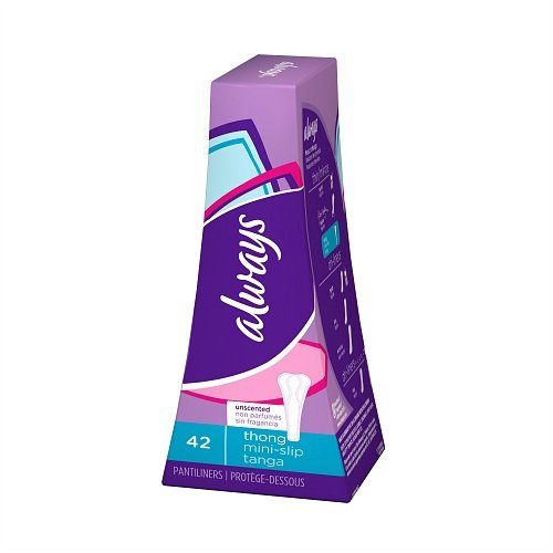 Always Thong Pantiliners, Unscented 42 ea