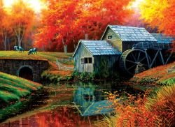 Old Mill in October 500+ Piece Jigsaw Puzzle by Sunsout Inc.