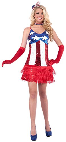 Women's Patriotic Sequin Sparkle Costume