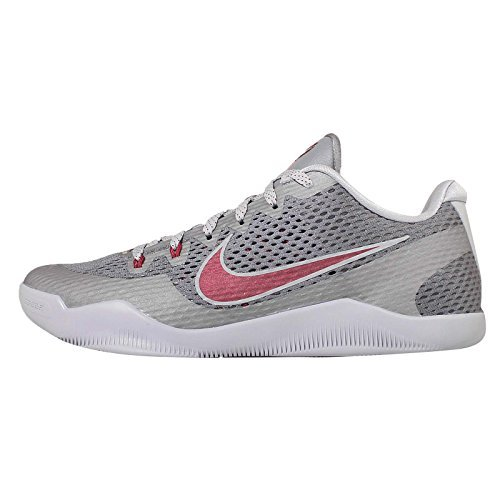 Nike Men's Kobe XI EP, LOWER MERION-COOL GREY/TEAM RED-WOLF GREY, 14 M US (Cool Greys 11 compare prices)