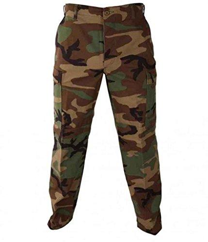Propper Genuine Gear BDU Trousers, 60/40 Cot/Pol, Made in Haiti, Woodland Camo - XL, F525025320XL2