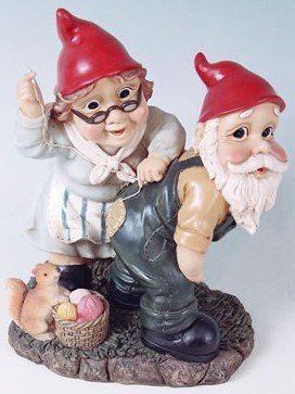 Mr + Mrs Sewing Garden Gnome
