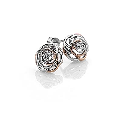 Hot Diamonds Eternal Rose Gold Accents Rose Stud Earrings