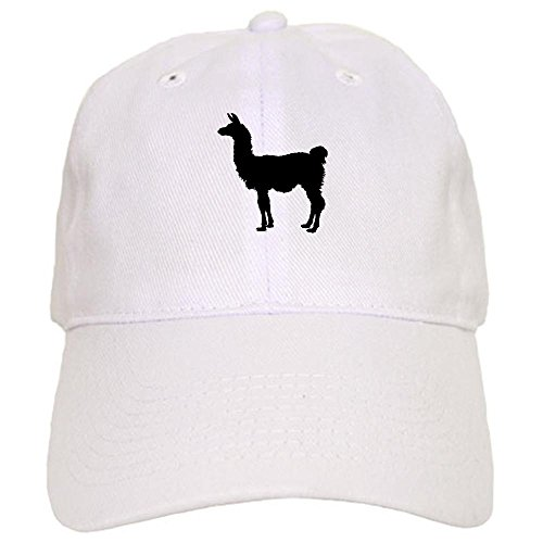 CafePress - Llama Silhouette Baseball Cap - Baseball Cap with Adjustable Closure, Unique Printed Baseball Hat