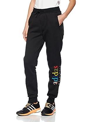 adidas Pantalón Regular Cuffed (Negro)