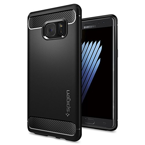 Galaxy Note 7 Case, Spigen® [Rugged Armor] Resilient [Black] Ultimate protection from drops and impacts for Samsung Galaxy Note 7 (2016) - (562CS20403)