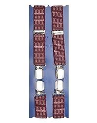 TieKart Maroon Patterns Men's Belts-Suspenders
