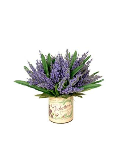 Creative Displays Heather Decoupage Pot, Purple/Green