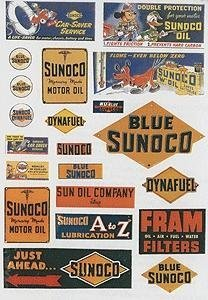ho-scale-vintage-gas-station-signs-sunoco-1940-50s-pkg42