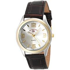U.S. Polo Assn. Classic Men's US5132 Brown Crocodile Strap Watch