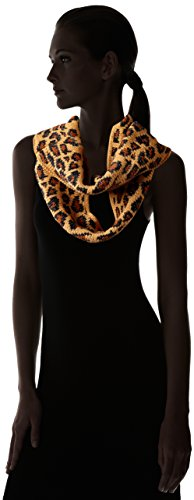 Betsey Johnson Women's Pretty Kitty Infinity Muffler, Camel, One Size