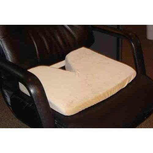 memory foam coccyx wedge seat cushion tan 171 z car cushions. Black Bedroom Furniture Sets. Home Design Ideas