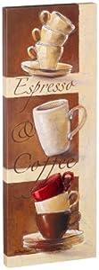 Eurographics H-K-BB1188 Espresso & Coffee - Lienzo (13 x 35 cm), diseño de tazas