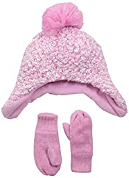 The Children\'s Place Baby-Girls Infant Popcorn Knit Set, Sparkle Pink, X-Small/6-12 Months