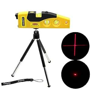Estone Mini Line Laser Level Marker TD9B 160° Laser Range with Adjustable Tripod