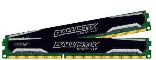 Ballistix Sport 16GB Kit (8GBx2) DDR3-1600 Very Low Profile UDIMM 240-Pin Memory BLS2K8G3D1609ES2LX0 (Crucial Ddr3 Low Profile compare prices)