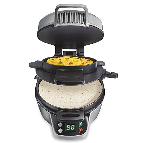 Hamilton Beach 25495 Breakfast Burrito Maker, Silver (Egg Sandwich Maker Hamilton compare prices)