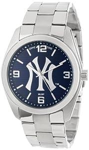 Game Time Unisex MLB-ELI-NY3 Elite New York Yankees Pinstripe Logo 3-Hand Analog... by Game Time