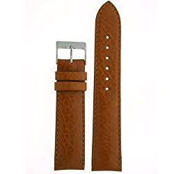 Watch Band Calfskin Leather Comfort Lite Padded Tan Mens 22 millimeters
