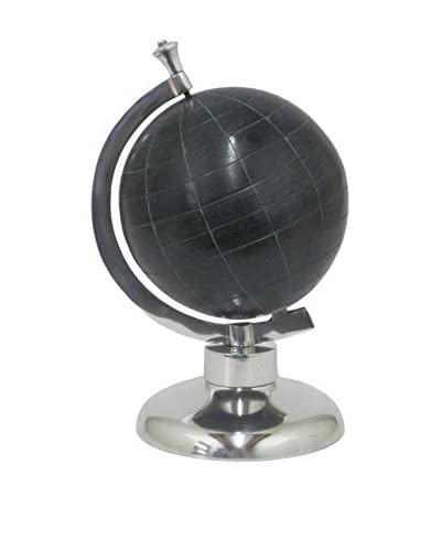 Three Hands Tilted 13 Black Aluminum Globe