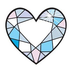 Hip In a Hurry 3D Decor Cut Outs 4.5 Inch Minis-Diamon Heart