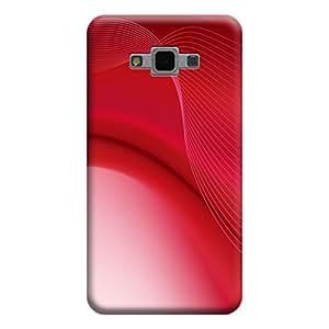 MakemyCase Samsung Grand Max / Grand 3 Spiral 3D Matte Finishing Printed Designer Hard Back Case Cover (Red)