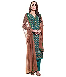 Lamiya Women's Unstitched Salwar Suit (PIC5001_Green_Free Size)