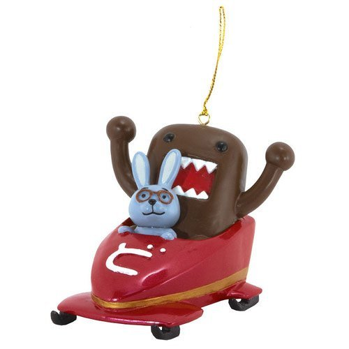 Dark Horse Deluxe Domo and Friends in Bobsled Ornament - 1