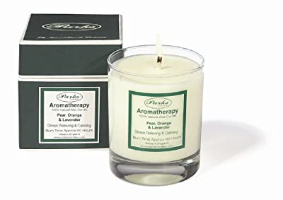 Parks Aromatherapy Natural Wax Candle Pear Orange Lavender 235g Giftboxed