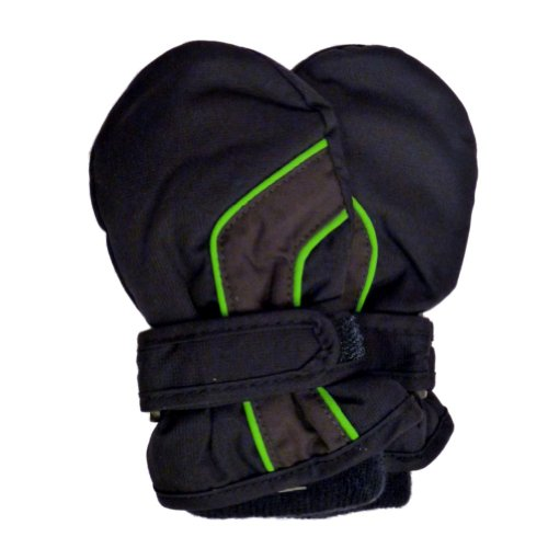 CP Infant Boys Navy Blue & Green Waterproof Snow & Ski Mittens