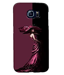 Fuson Well dressed Girl Back Case Cover for SAMSUNG GALAXY S6 - D3922