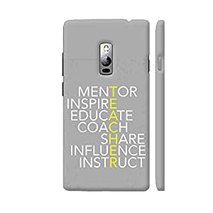 Colorpur Definition Of Teacher Designer Mobile Phone Case Back Cover For OnePlus 2 | Artist: Dolly P