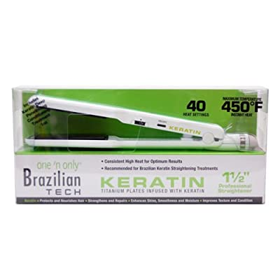"Brazliain Tech Titanium Keratin Infused 1.5"" Hair Straightener by One N Only ONOBT2511"