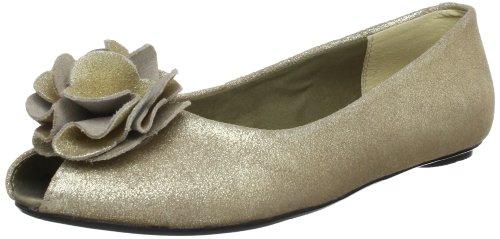 Clarks Advent Season Peep-Toe Womens Beige Beige (Champagne Lea) Size: 6 (39 EU)