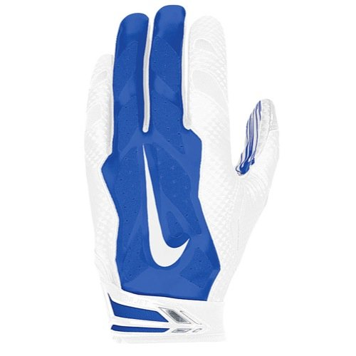 Nike Vapor Jet 3.0 Receiver Gloves (White/Royal, X-Large)