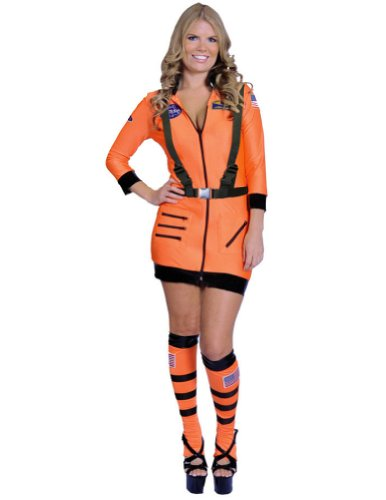 Astronaut Sexy Orange Md Halloween Costume - Adult Medium