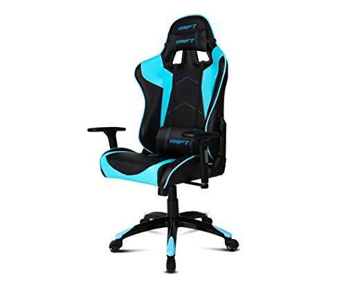 Drift-DR300-Sedia-per-Gaming-Finta-Pelle-NeroBlu-48x615x129-cm
