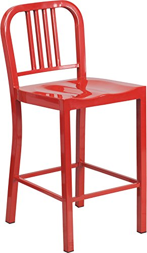 red metal kitchen counter stools