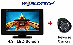 Worldtech NV 8 LED Reverse Parking Camera and 4.3-inch LED TFT Monitor