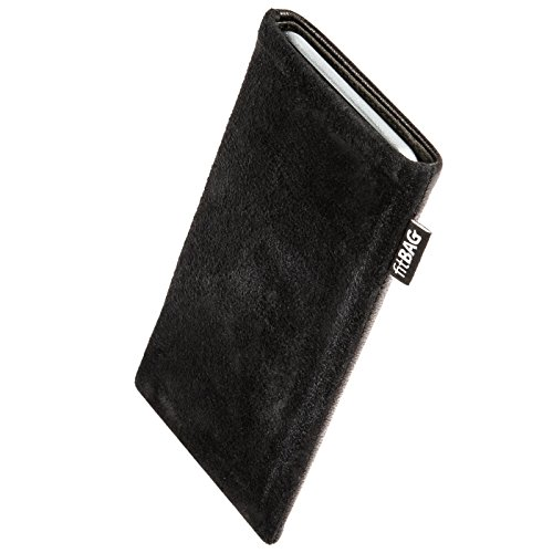 Click to buy fitBAG Fusion Black/Black custom tailored sleeve for Samsung B2710. Nappa/Suede leather mix Pouch with integrated MicroFibre lining for display cleaning - From only $27.9