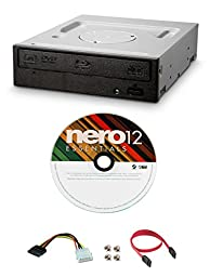 Pioneer 8x BDC-207DBK Internal Blu-ray BD-ROM Drive Bundle with Nero Burning Software and Cable Accessories (SATA Interface)
