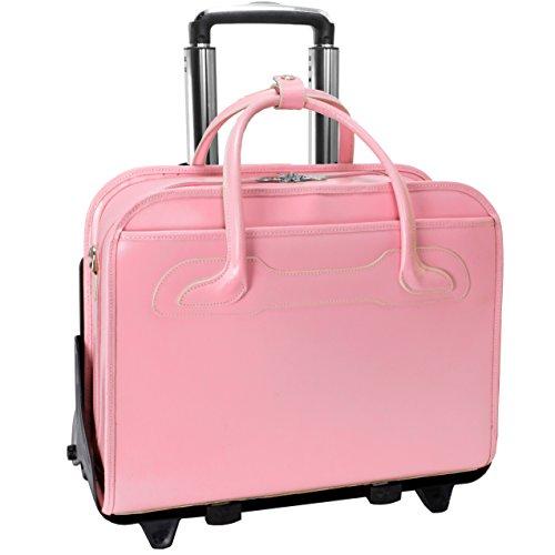 McKlein-Willowbrook-Rolling-Leather-17-Laptop-Brief-Pink